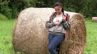 Farm girl strips on the top of cam increased by plays in a sexy intimate XXX