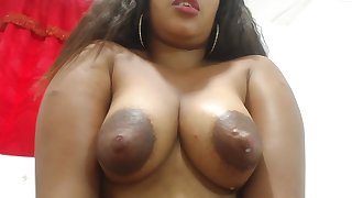 Sherezade milks her confidential together with masturbates - Latina in lactation fetish
