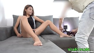 Tiny Teen Thai Asian Chick picked everywhere by Douche