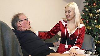 70 year old baffle fucks 18 year old girl she swallows cum