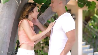 Romantic fucking close by a catch apartment with small tits teen Addee Kate
